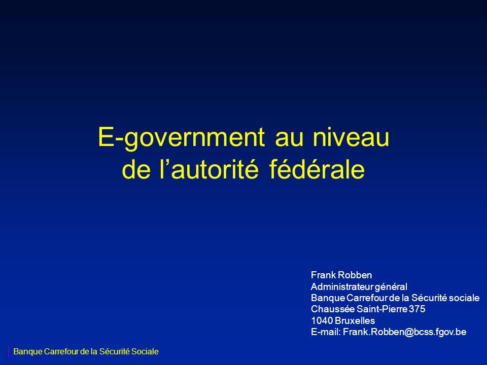 E-government au niveau de l'autorité fédérale
