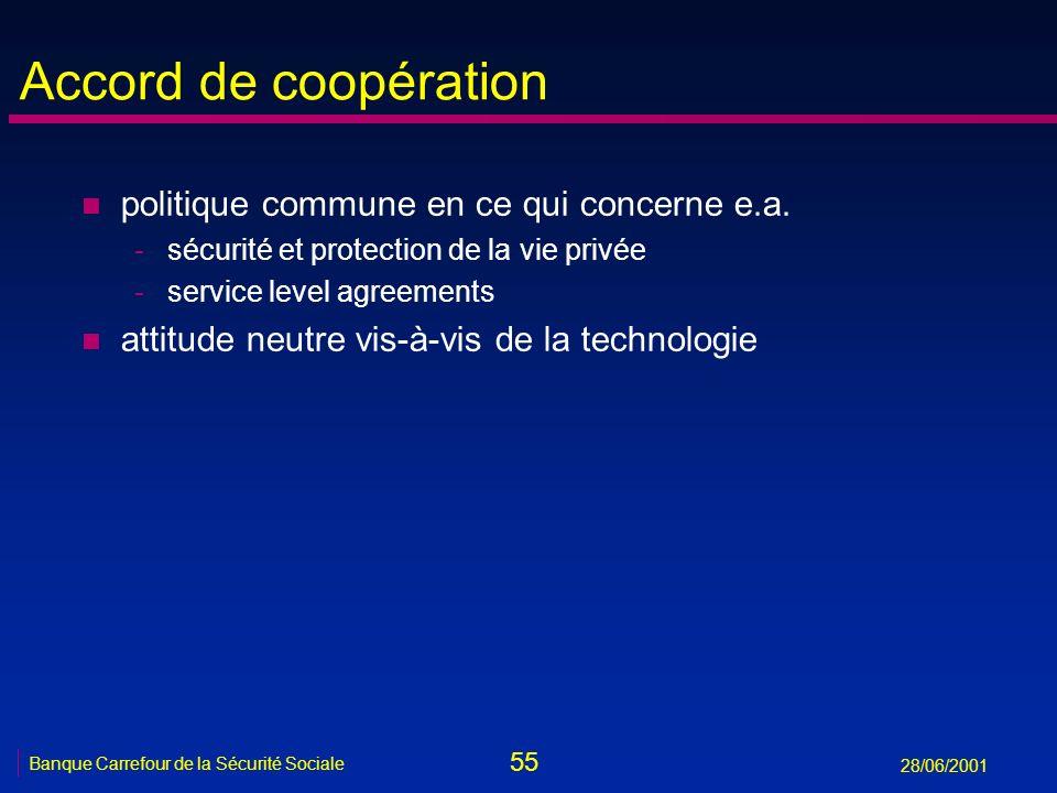 Accord de coopération politique commune en ce qui concerne e.a.