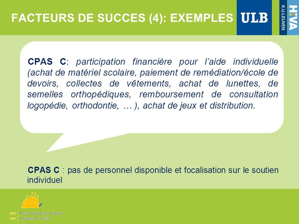 FACTEURS DE SUCCES (4): EXEMPLES