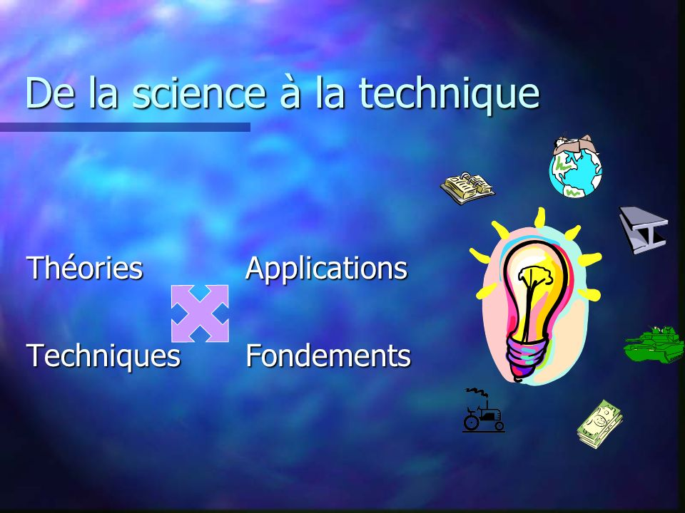 De la science à la technique