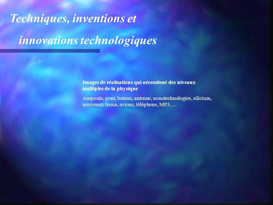 Techniques, inventions et innovations technologiques