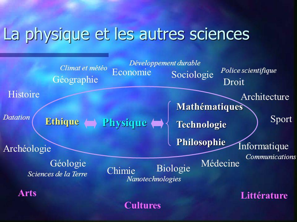 La physique et les autres sciences