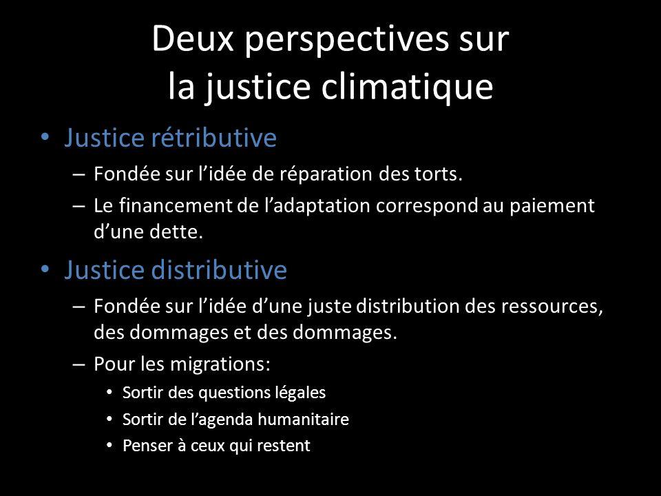 Deux perspectives sur la justice climatique
