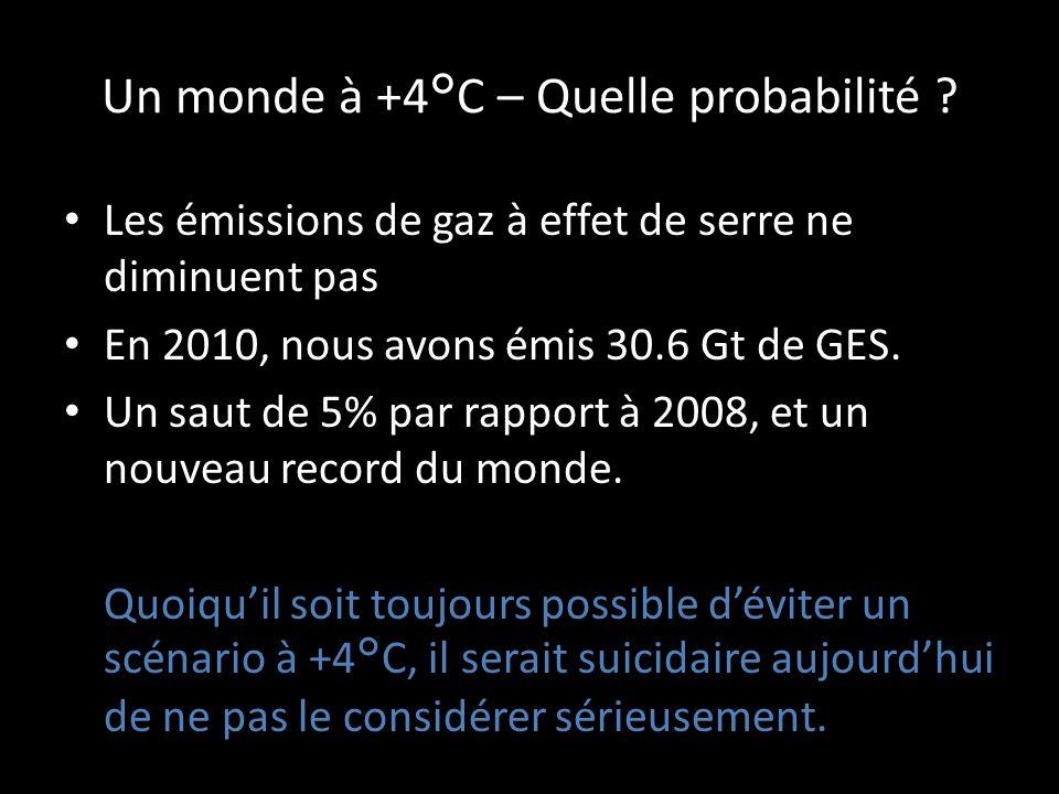 Un monde à +4°C – Quelle probabilité