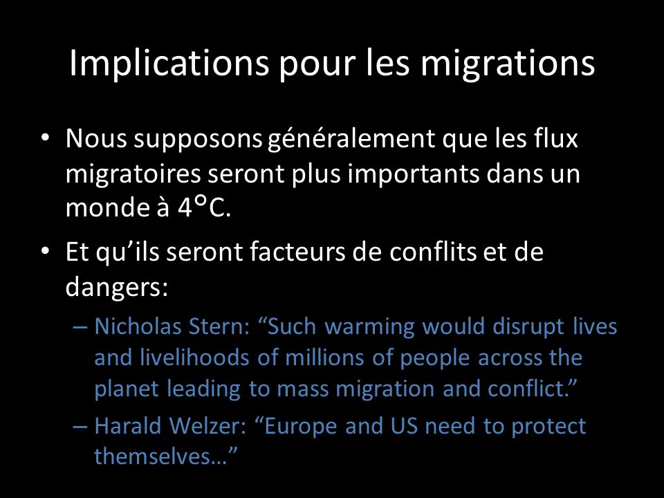 Implications pour les migrations