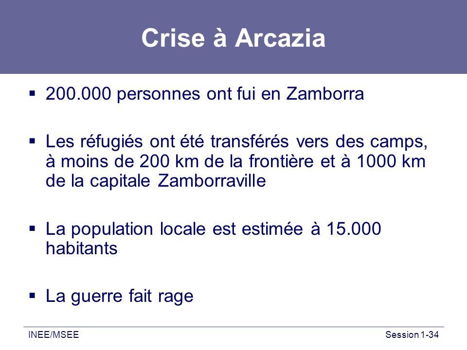 Crise à Arcazia 200.000 personnes ont fui en Zamborra