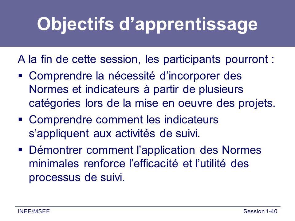 Objectifs d'apprentissage