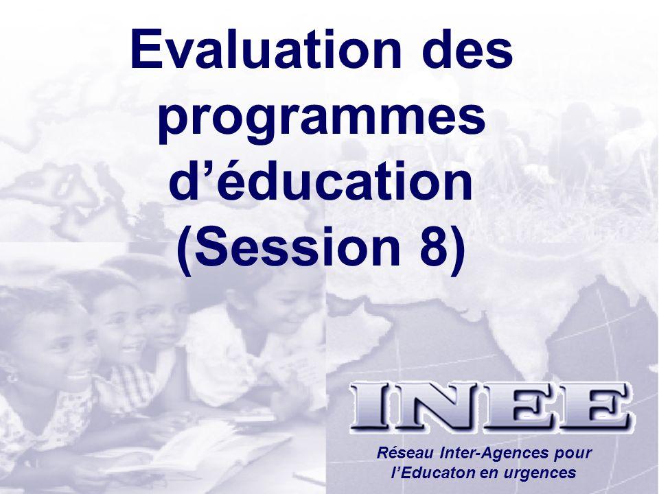 Evaluation des programmes d'éducation (Session 8)