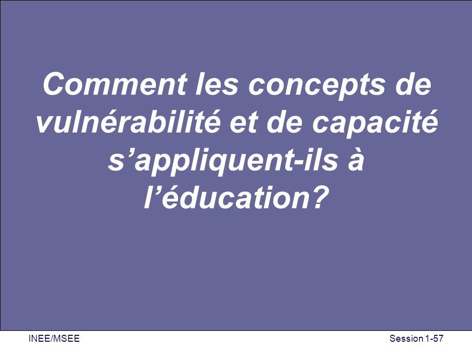 Comment les concepts de vulnérabilité et de capacité s'appliquent-ils à l'éducation