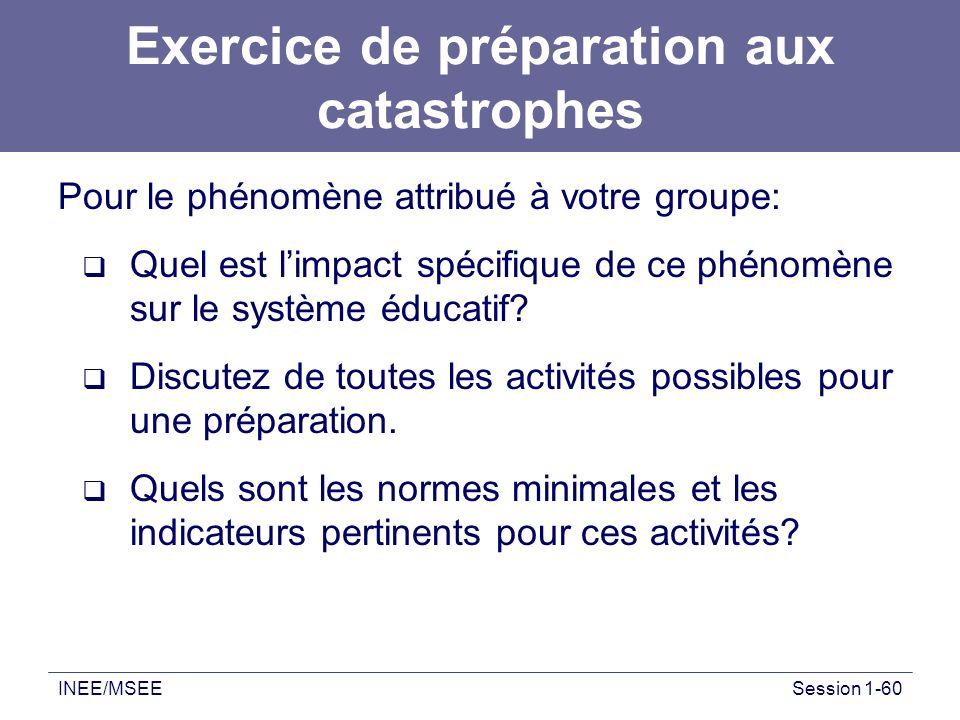Exercice de préparation aux catastrophes