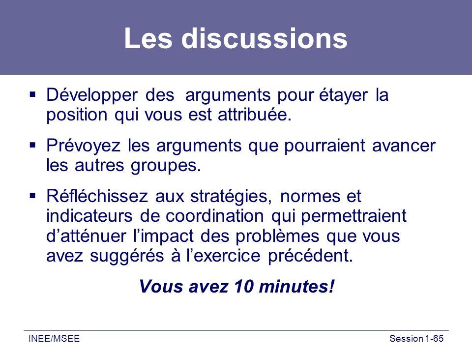Les discussions Développer des arguments pour étayer la position qui vous est attribuée.