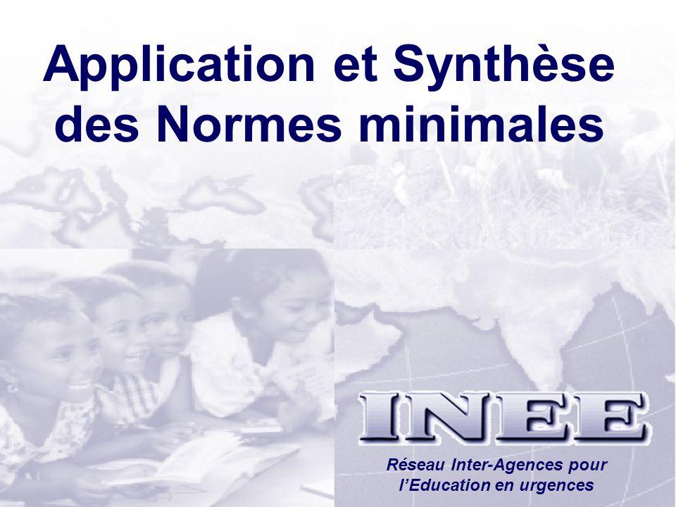 Application et Synthèse des Normes minimales