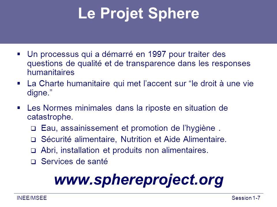Le Projet Sphere www.sphereproject.org