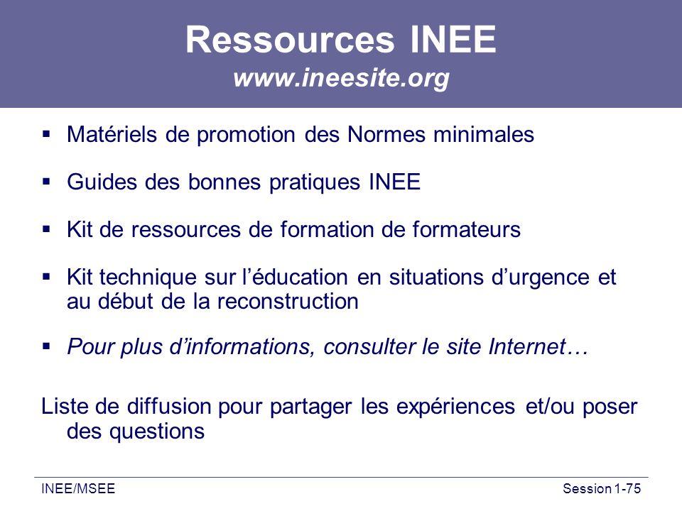 Ressources INEE www.ineesite.org
