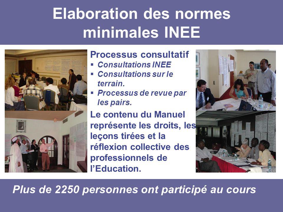 Elaboration des normes minimales INEE
