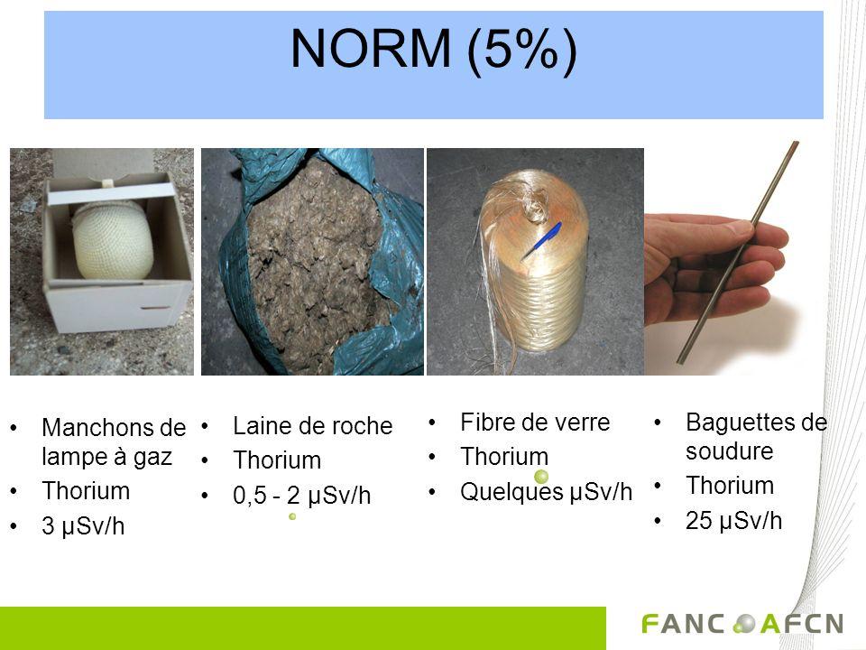 NORM (5%) Fibre de verre Baguettes de soudure Manchons de lampe à gaz