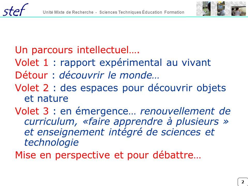 Un parcours intellectuel….
