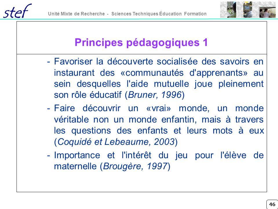 Principes pédagogiques 1