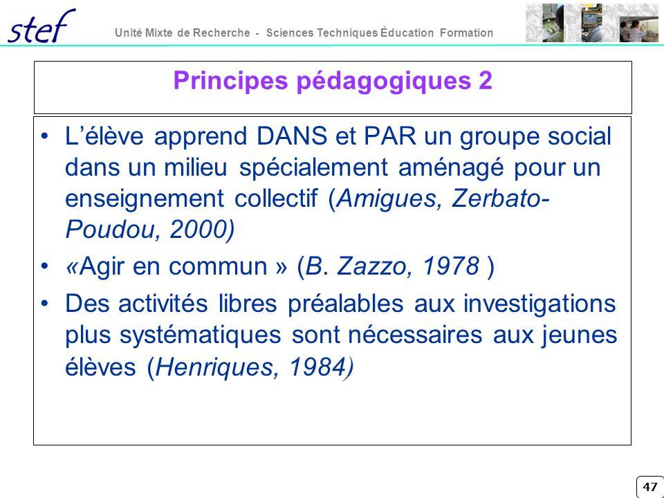 Principes pédagogiques 2