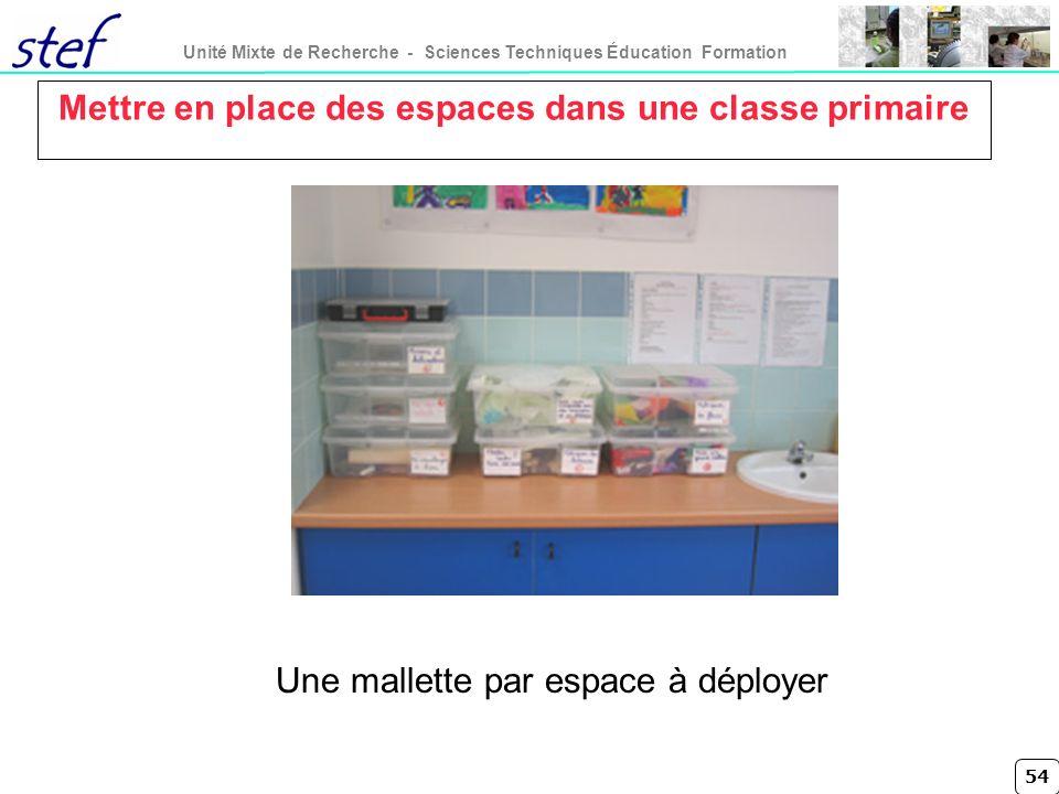 Mettre en place des espaces dans une classe primaire