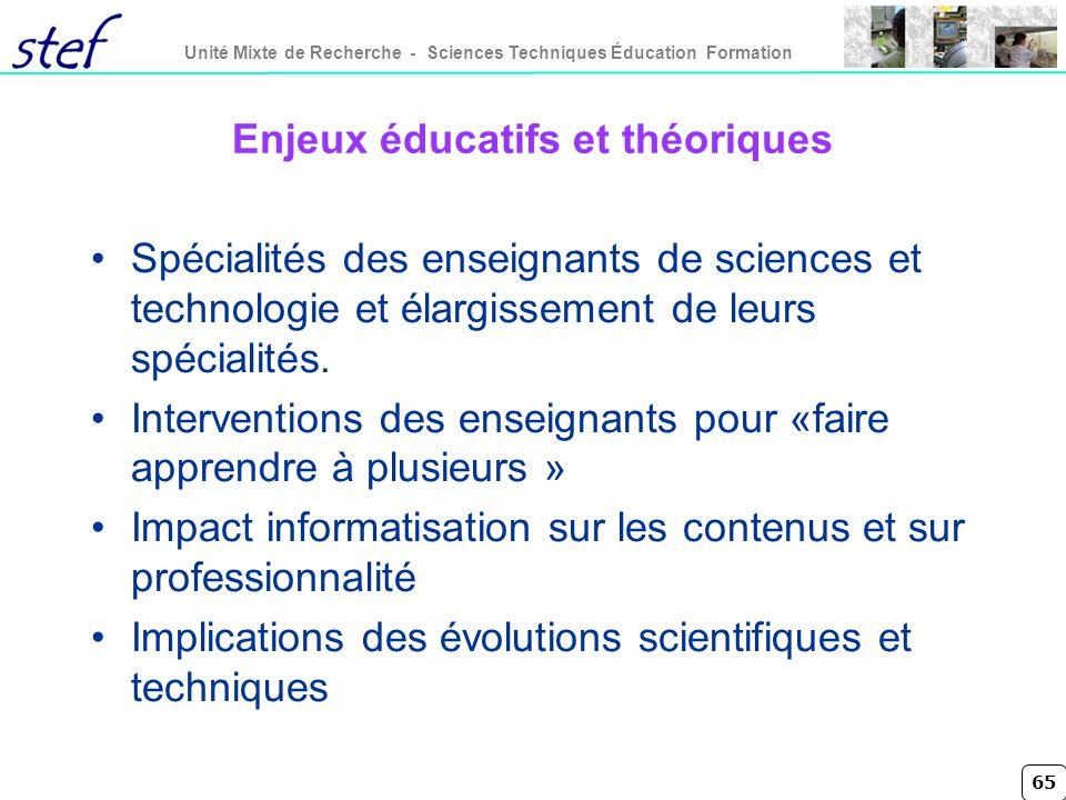 Enjeux éducatifs et théoriques