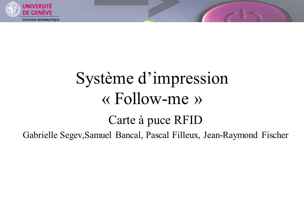 Système d'impression « Follow-me »