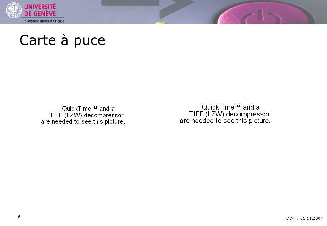 Carte à puce DINF / 01.11.2007