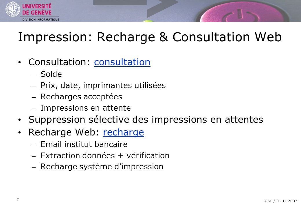 Impression: Recharge & Consultation Web