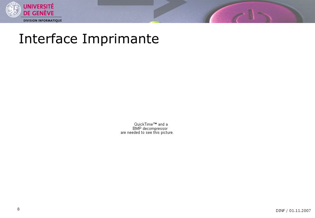 Interface Imprimante DINF /