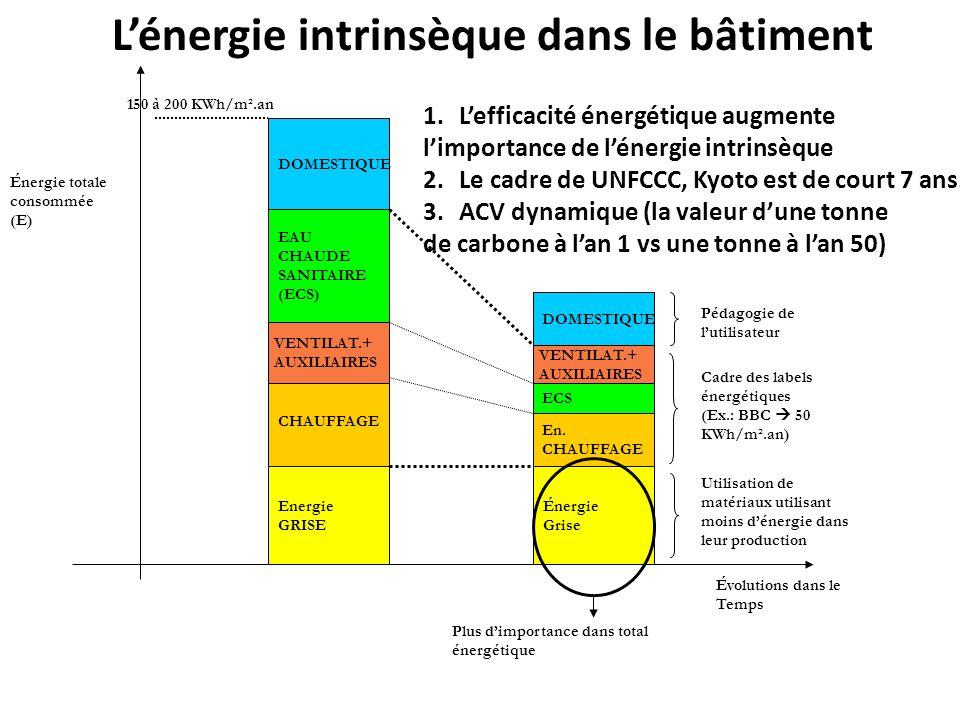 L'énergie intrinsèque dans le bâtiment
