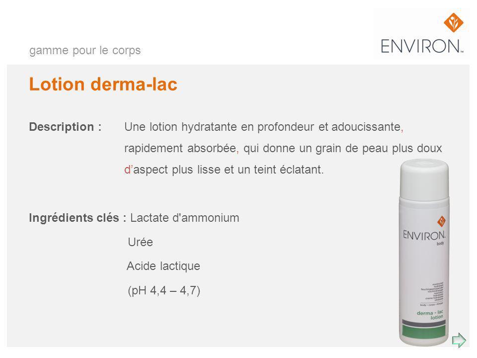 Lotion derma-lac gamme pour le corps