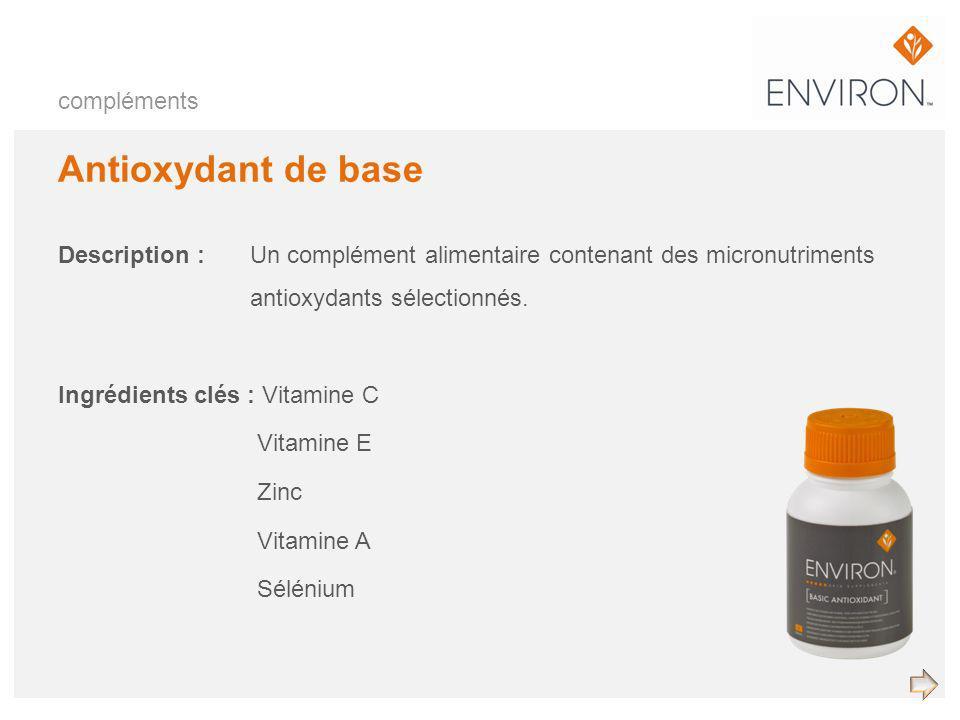 Antioxydant de base compléments