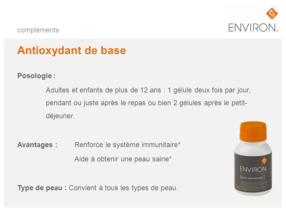 Antioxydant de base compléments Posologie :