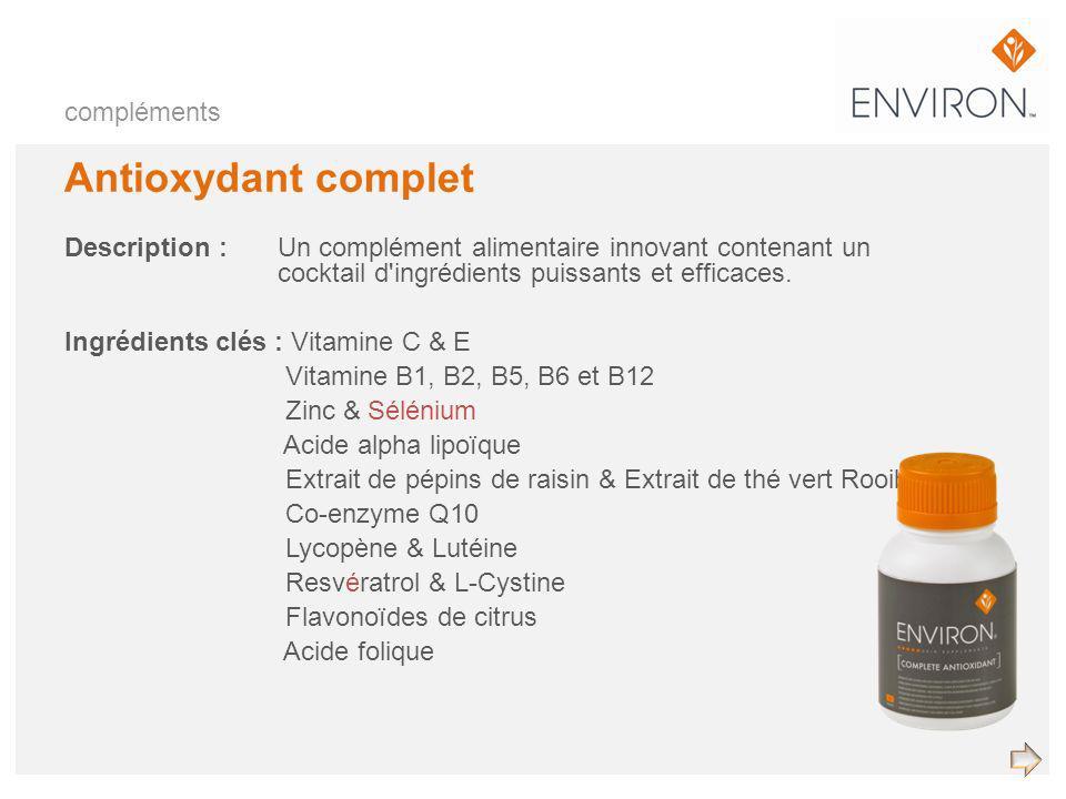 Antioxydant complet compléments