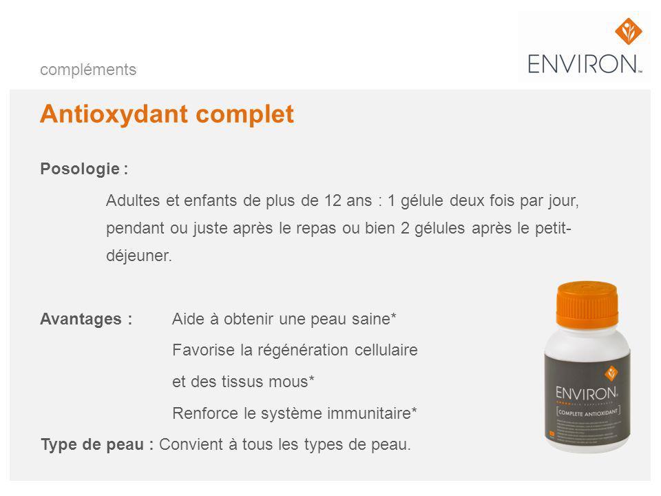 Antioxydant complet compléments Posologie :