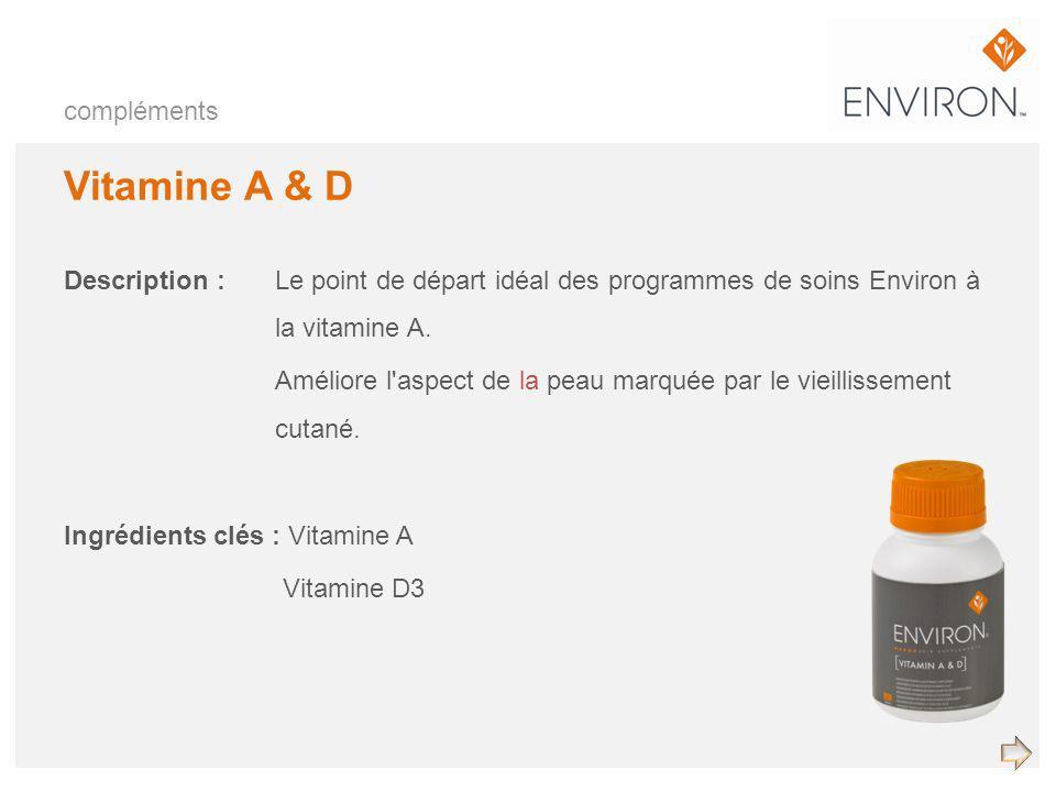 Vitamine A & D compléments
