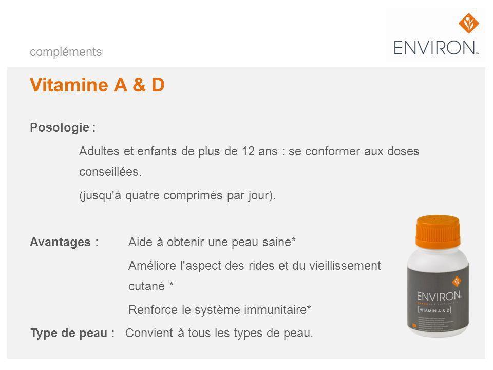 Vitamine A & D compléments Posologie :
