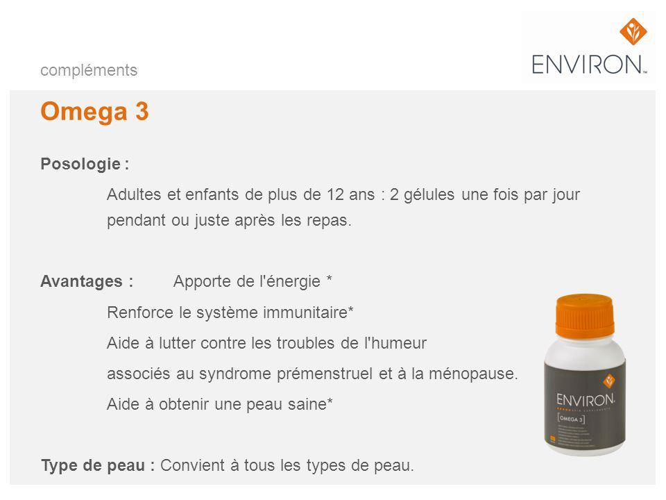Omega 3 compléments Posologie :