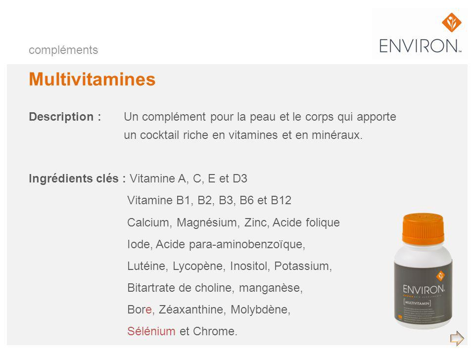 Multivitamines compléments