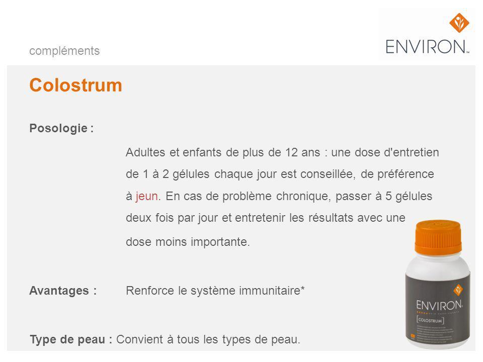 Colostrum compléments Posologie :