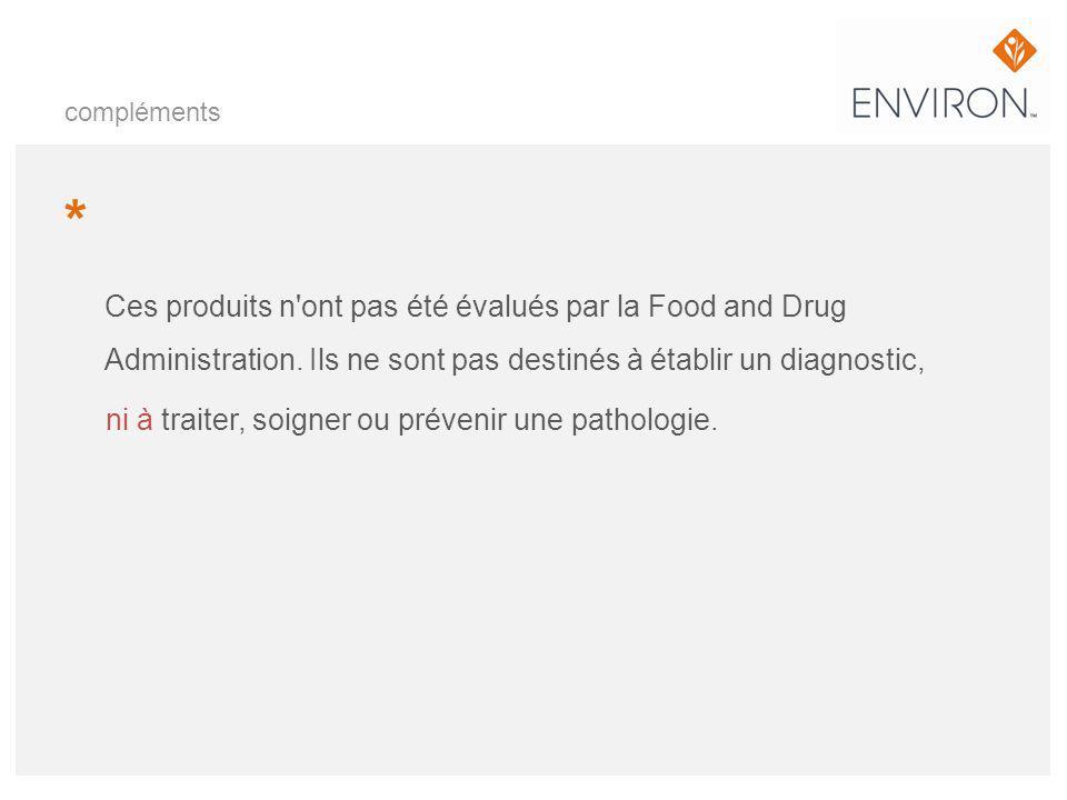 compléments * Ces produits n ont pas été évalués par la Food and Drug Administration. Ils ne sont pas destinés à établir un diagnostic,