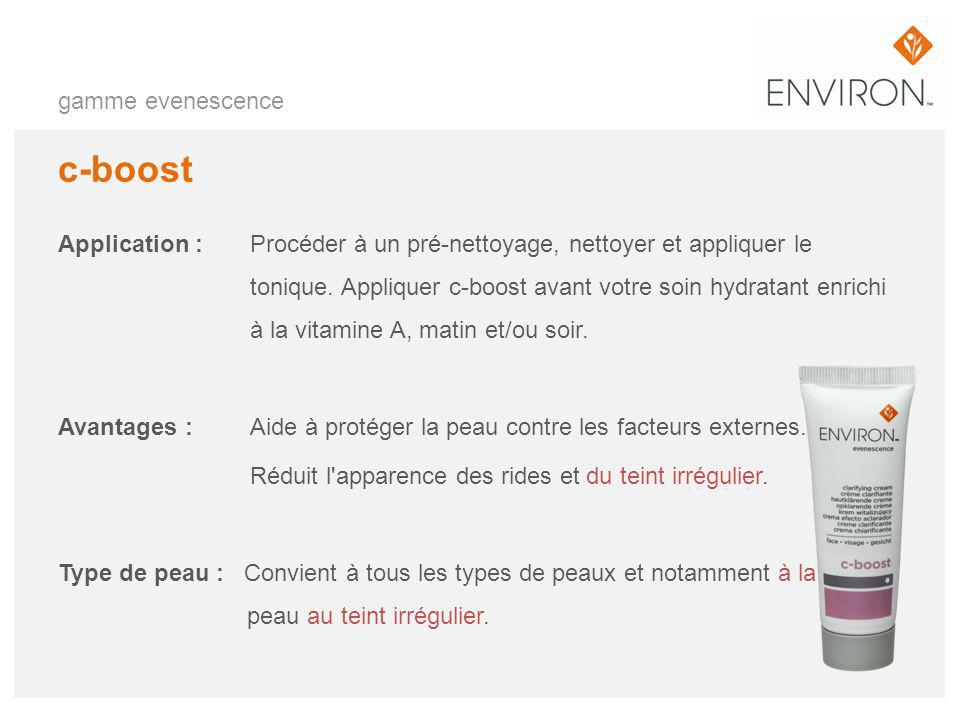 c-boost gamme evenescence