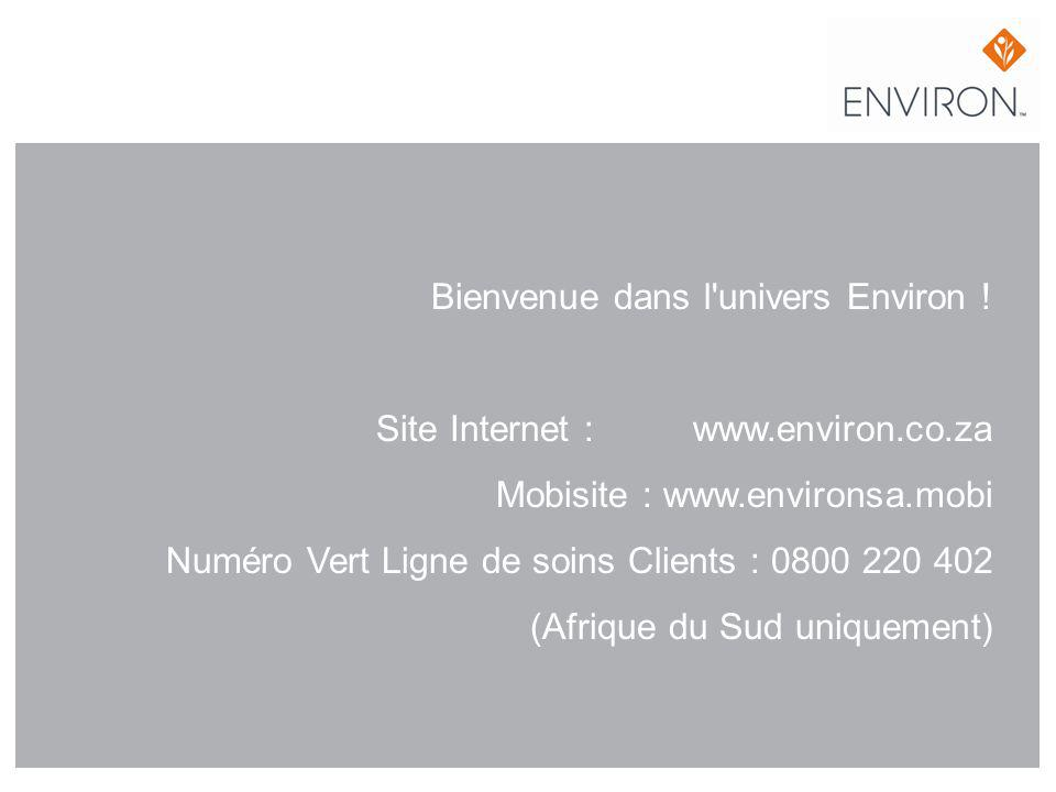 Bienvenue dans l univers Environ. Site Internet :. www. environ. co