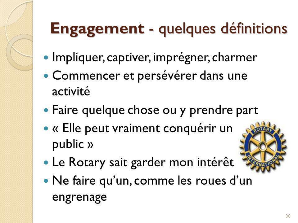 Engagement - quelques définitions