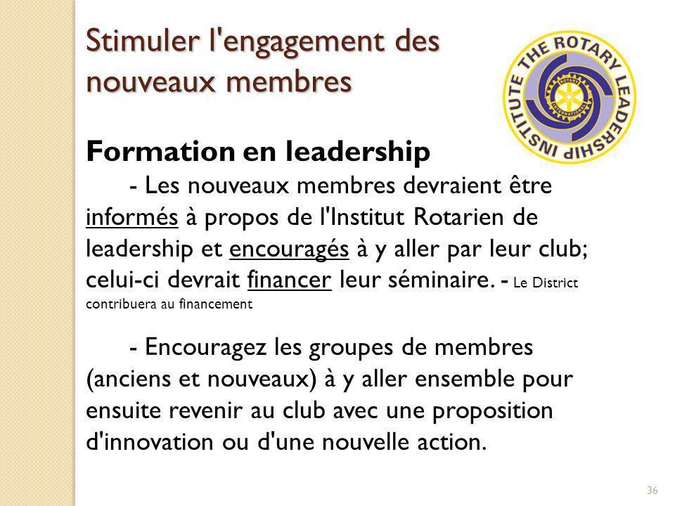 Stimuler l engagement des nouveaux membres