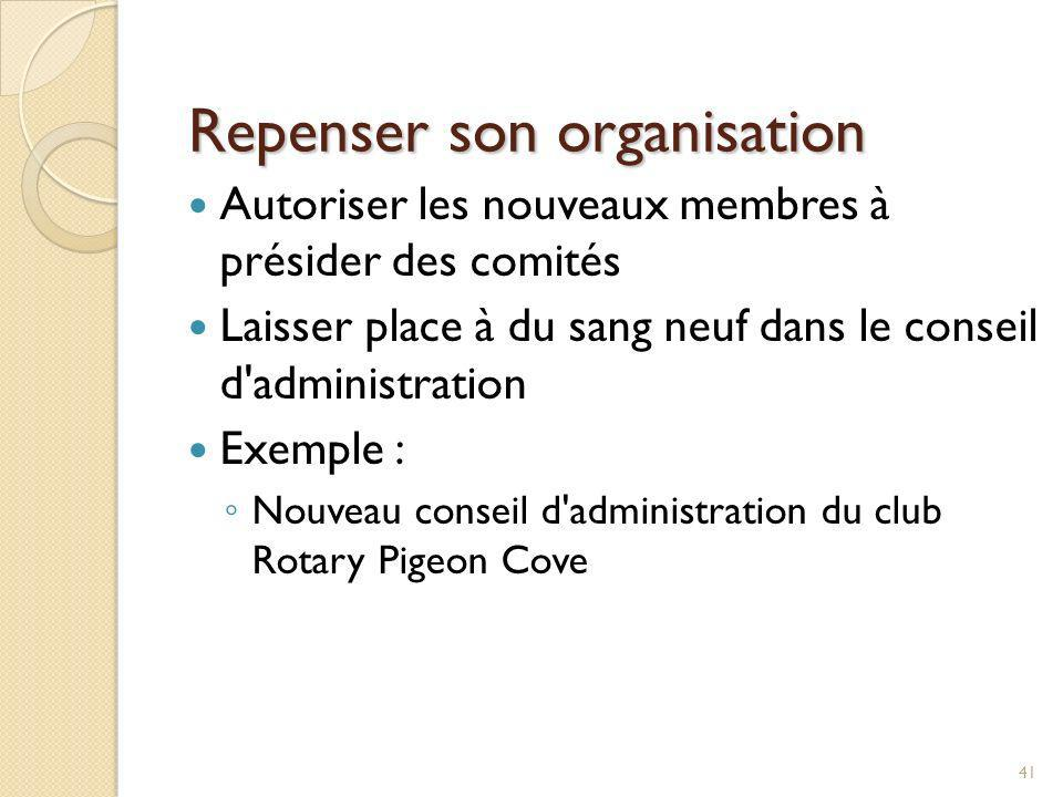 Repenser son organisation
