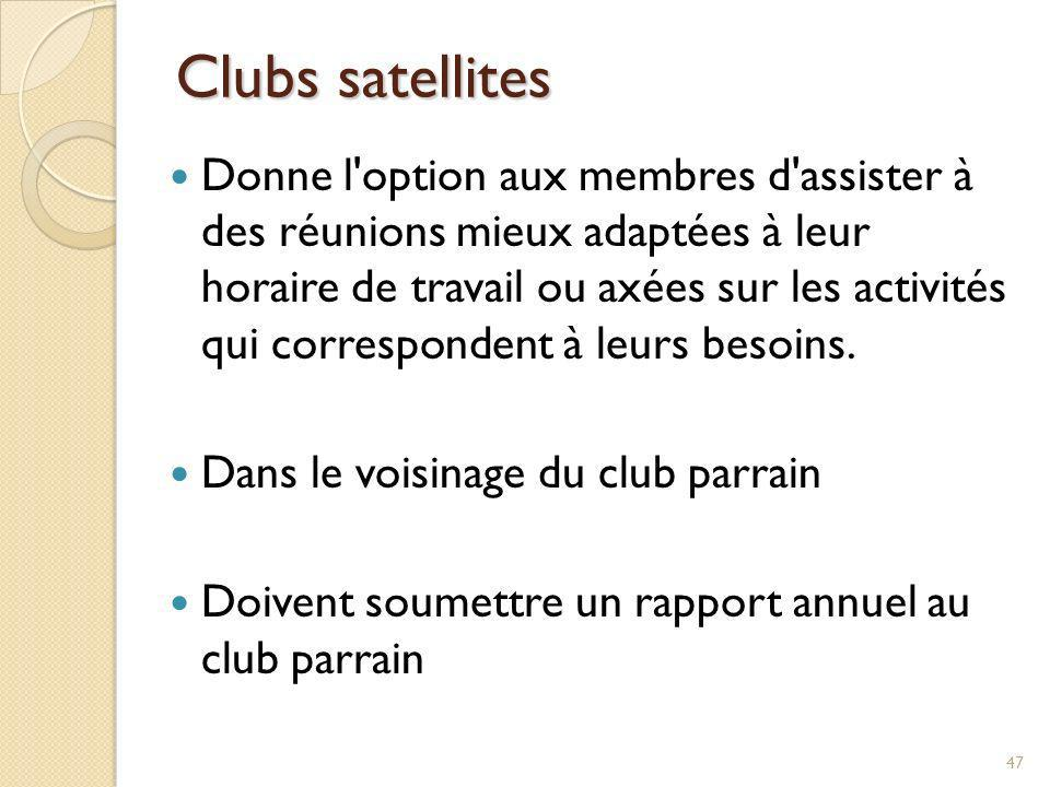 Clubs satellites