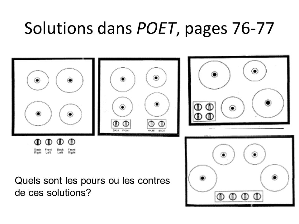 Solutions dans POET, pages 76-77