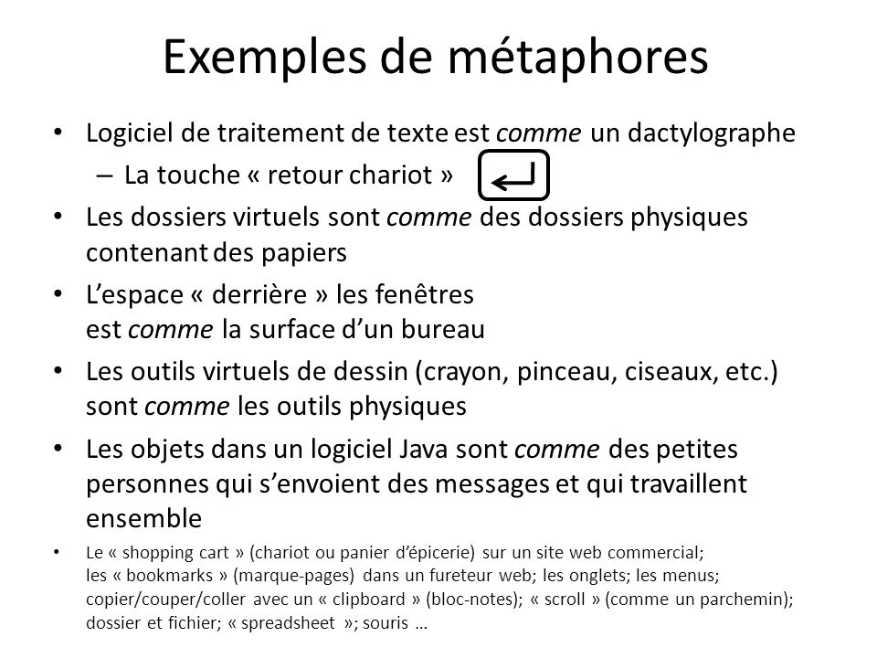 Exemples de métaphores