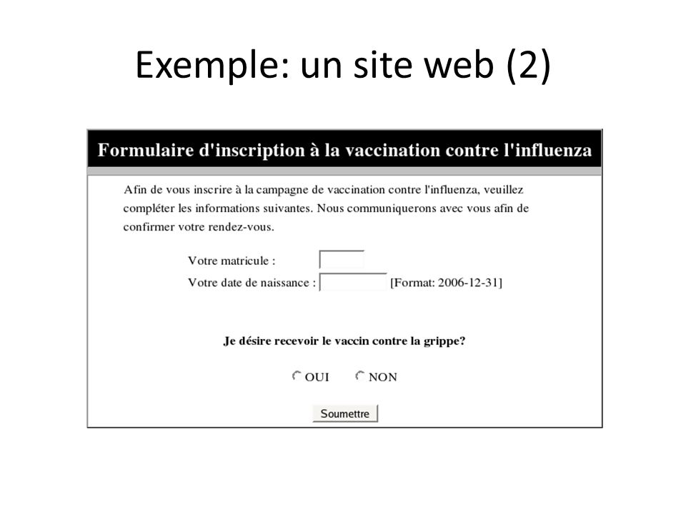 Exemple: un site web (2)